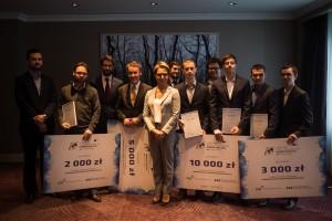 Laureaci, partnerzy i organizatorzy polskiej edycji Galileo Masters 2015 / Credit: ARP
